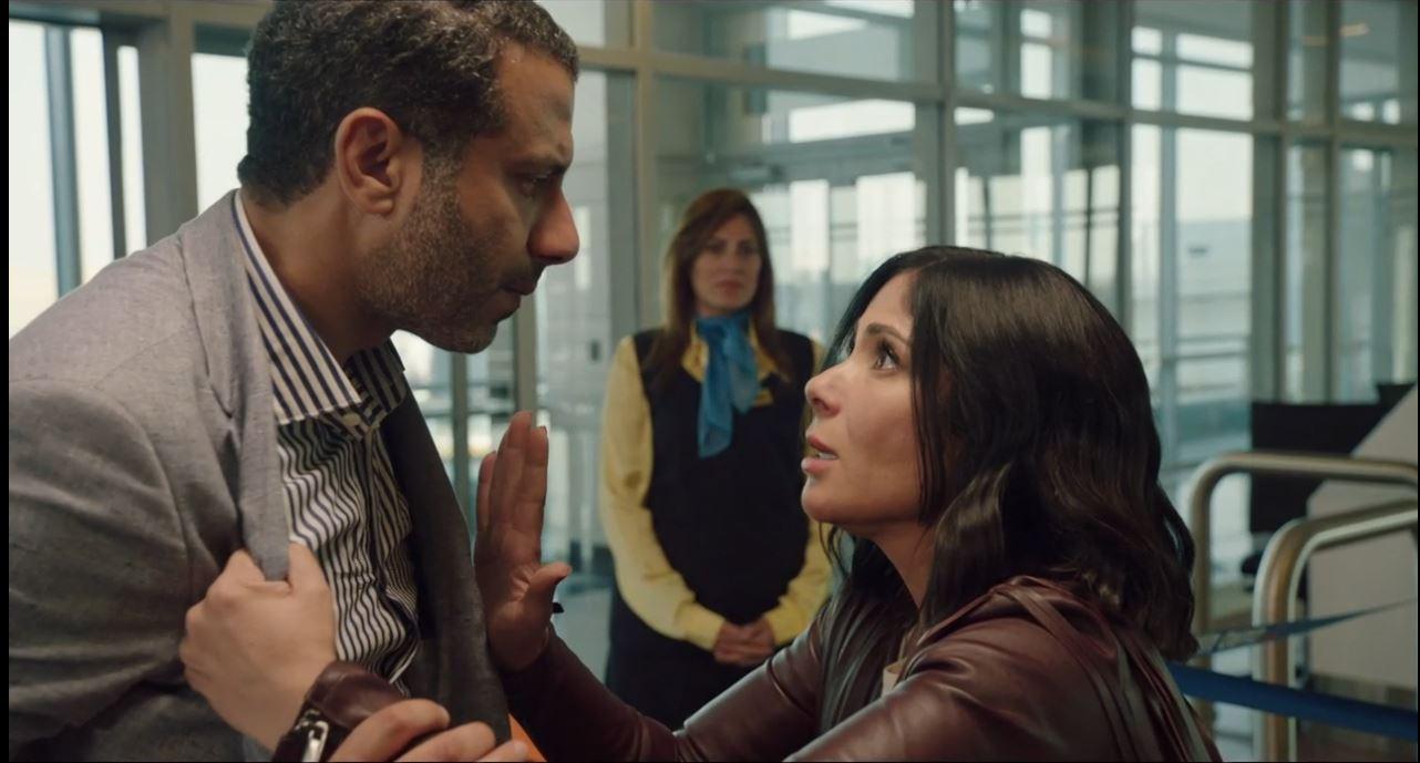 منى زكي ومحمد فراج من مسلسل لعبة نيوتن الحلقة الاخيرة