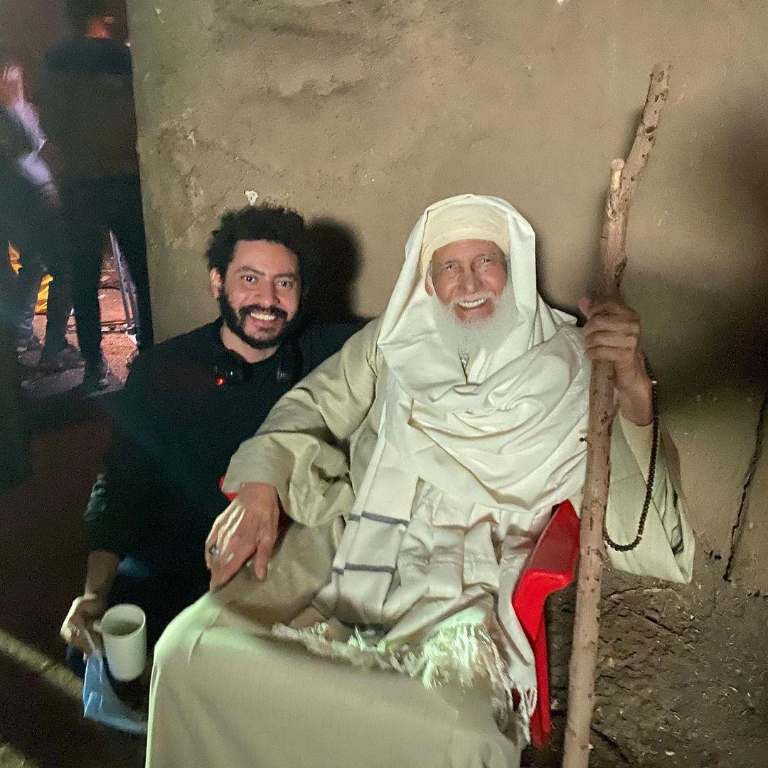 المخرج محمد سلامة مع الفنان الراحل