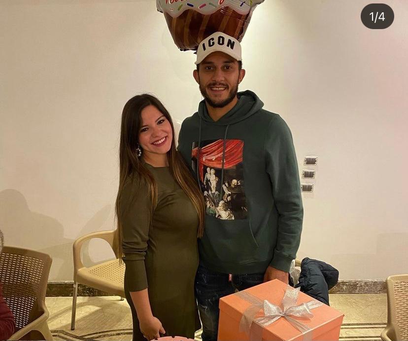 أحمد أيمن منصور و زوجته ساندى