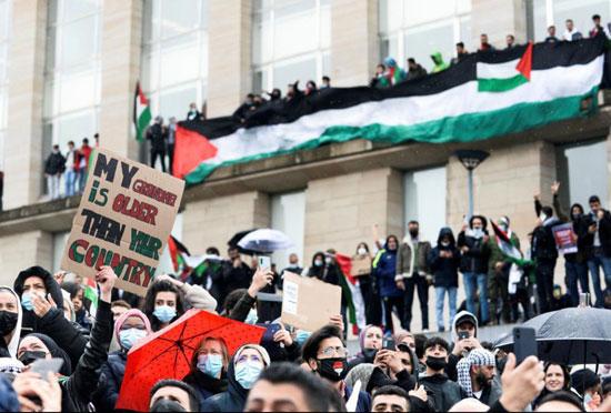 يهود يشاركون في تظاهرات ببلجيكا (2)