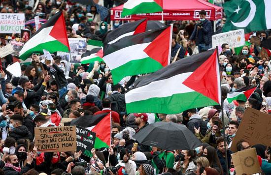 يهود يشاركون في تظاهرات ببلجيكا (1)