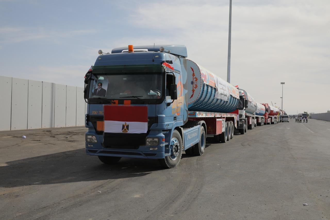 أسطول المساعدات المصرية للفلسطنيين