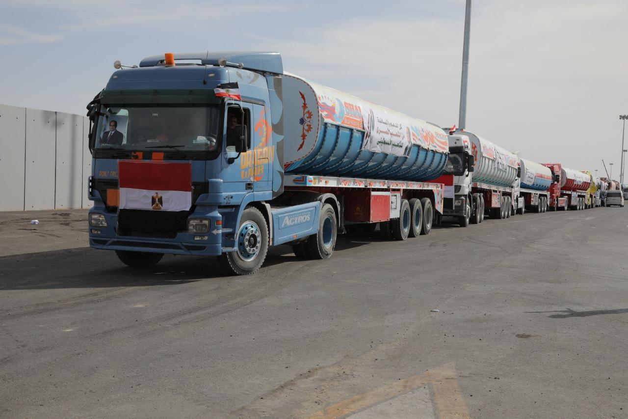 مساعدات مصر للفلسطنيين