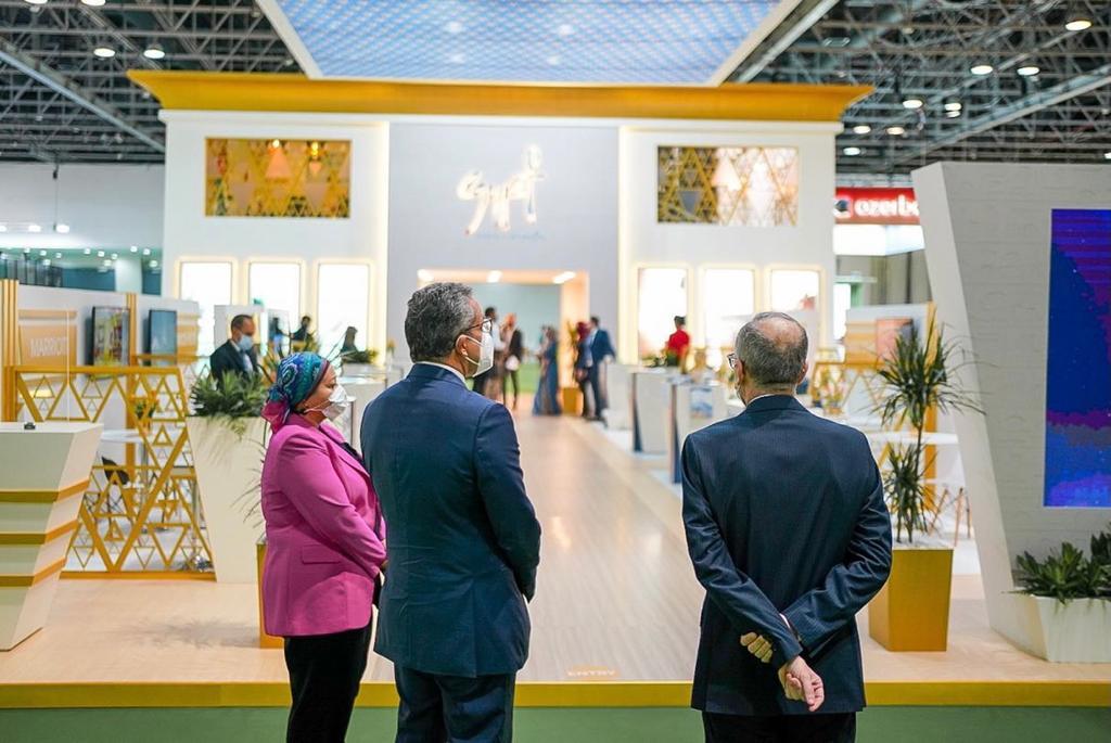 افتتاح الجناح المصري في الملتقى العربي للسياحة والسفر