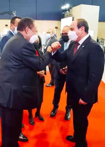 الرئيس عبد الفتاح السيسي مع زعماء أفريقيا علي هامش القمة بباريس (4)