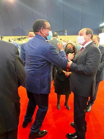 الرئيس عبد الفتاح السيسي مع زعماء أفريقيا علي هامش القمة بباريس (6)