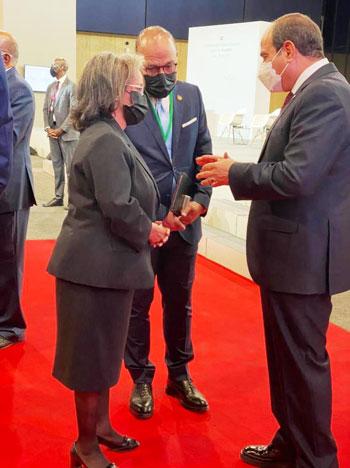 الرئيس عبد الفتاح السيسي مع زعماء أفريقيا علي هامش القمة بباريس (5)