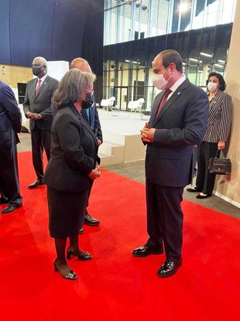 الرئيس عبد الفتاح السيسي مع زعماء أفريقيا علي هامش القمة بباريس (10)