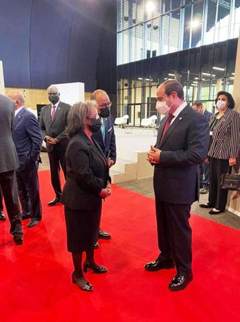 الرئيس عبد الفتاح السيسي مع زعماء أفريقيا علي هامش القمة بباريس (2)