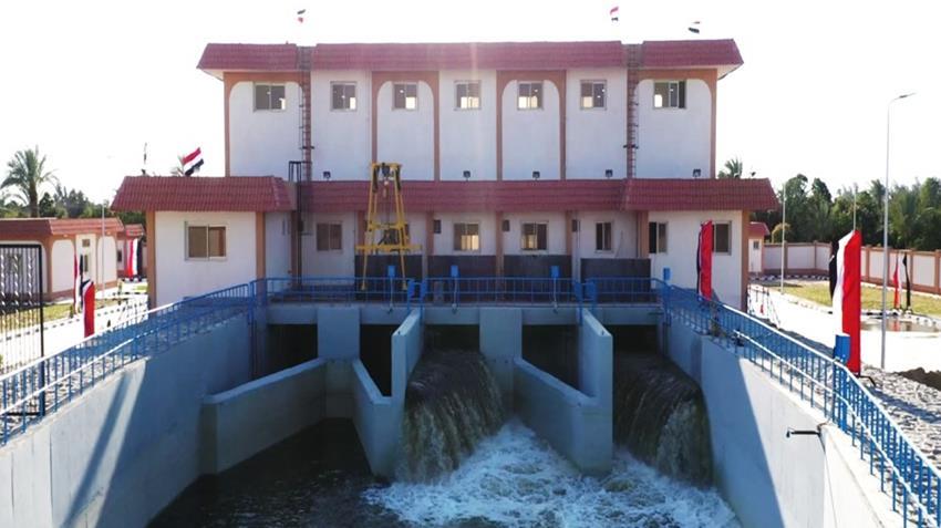 محطة معالجة مياه مصرف المحسمة بسرابيوم (1)