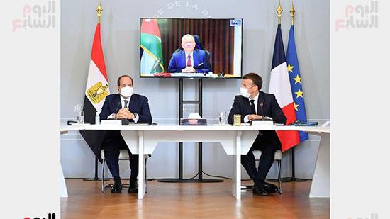 الرئيس عبد الفتاح السيسي والرئيس الفرنسى ماكرون (2)