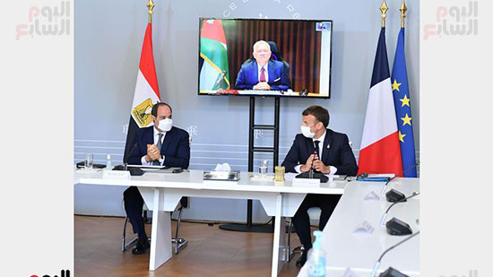 الرئيس عبد الفتاح السيسي والرئيس الفرنسى ماكرون (5)