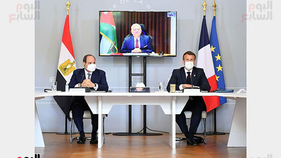 الرئيس عبد الفتاح السيسي والرئيس الفرنسى ماكرون (1)