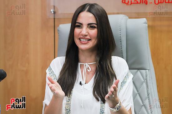 درة فى لقائها مع تليفزيون اليوم السابع