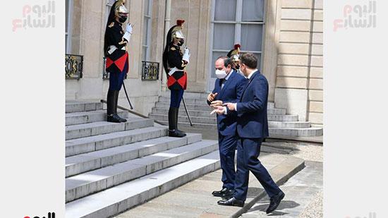 الرئيس عبد الفتاح السيسي والرئيس الفرنسى ماكرون (6)