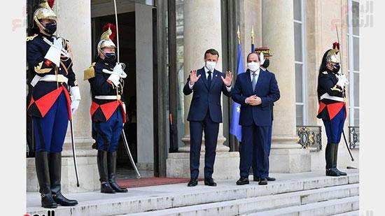 الرئيس عبد الفتاح السيسي والرئيس الفرنسى ماكرون (3)