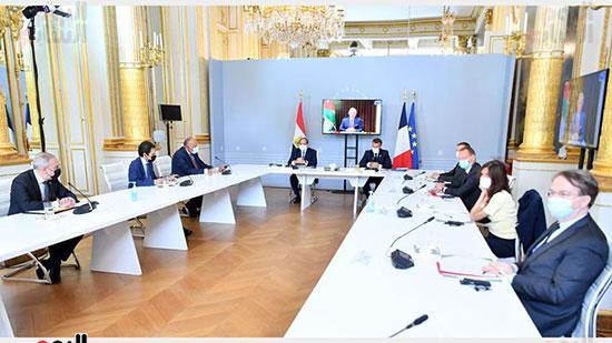 الرئيس عبد الفتاح السيسي والرئيس الفرنسى ماكرون (4)