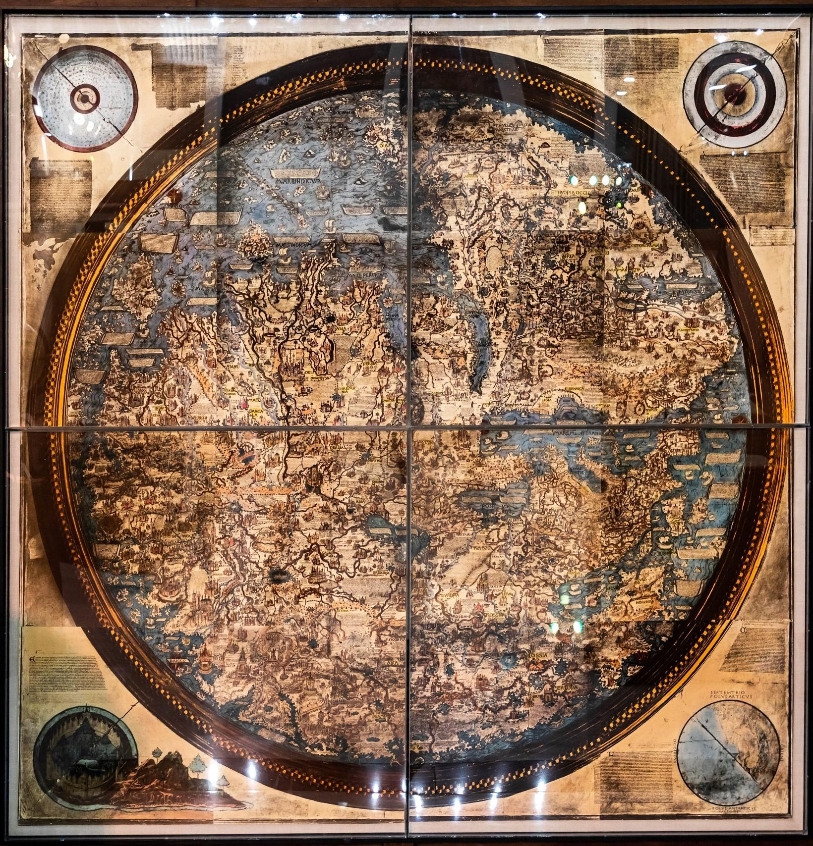 خريطة مابا موندي لـ فرا ماورو