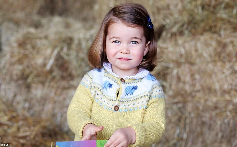 الأميرة شارلوت  في عمر العامين