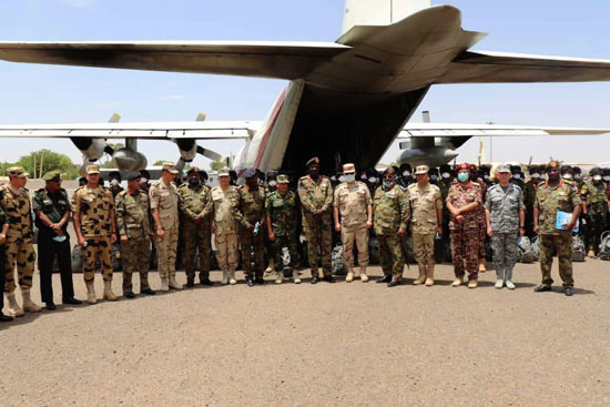 التدريب المشترك حماة النيل بدولة السودان (2)