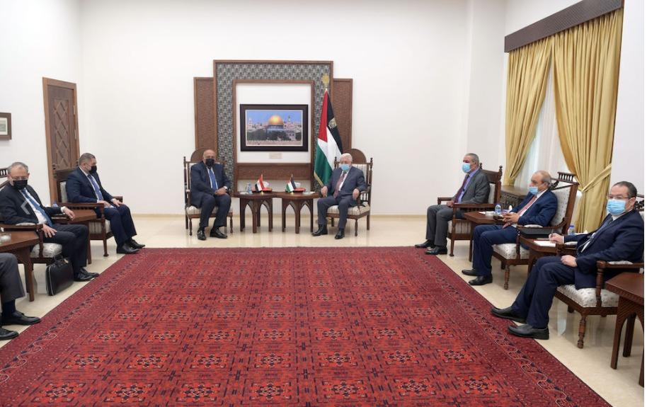 ابو مازن يستقبل وزير الخارجية والوفد المرافق له