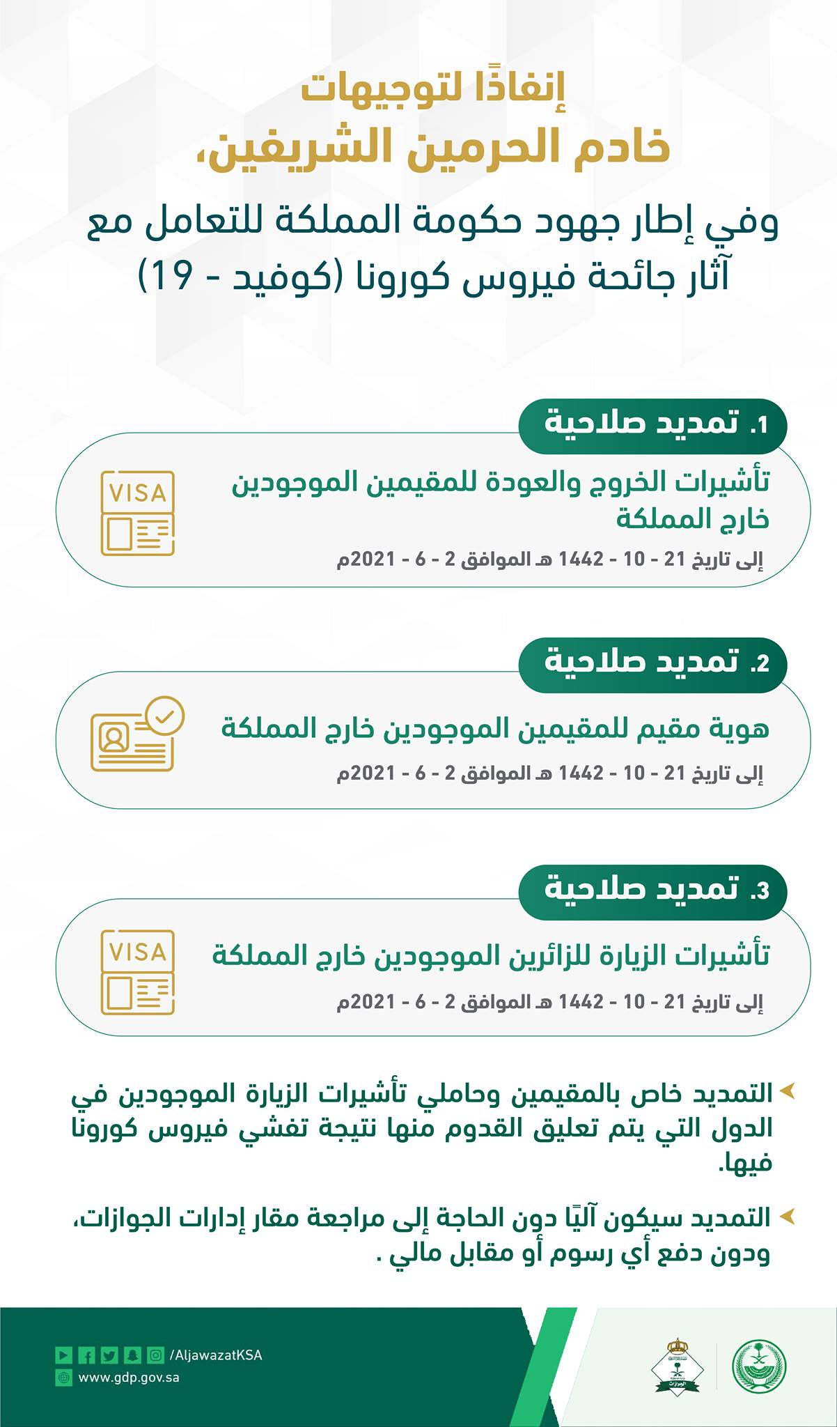 قرارات الجوازات السعودية