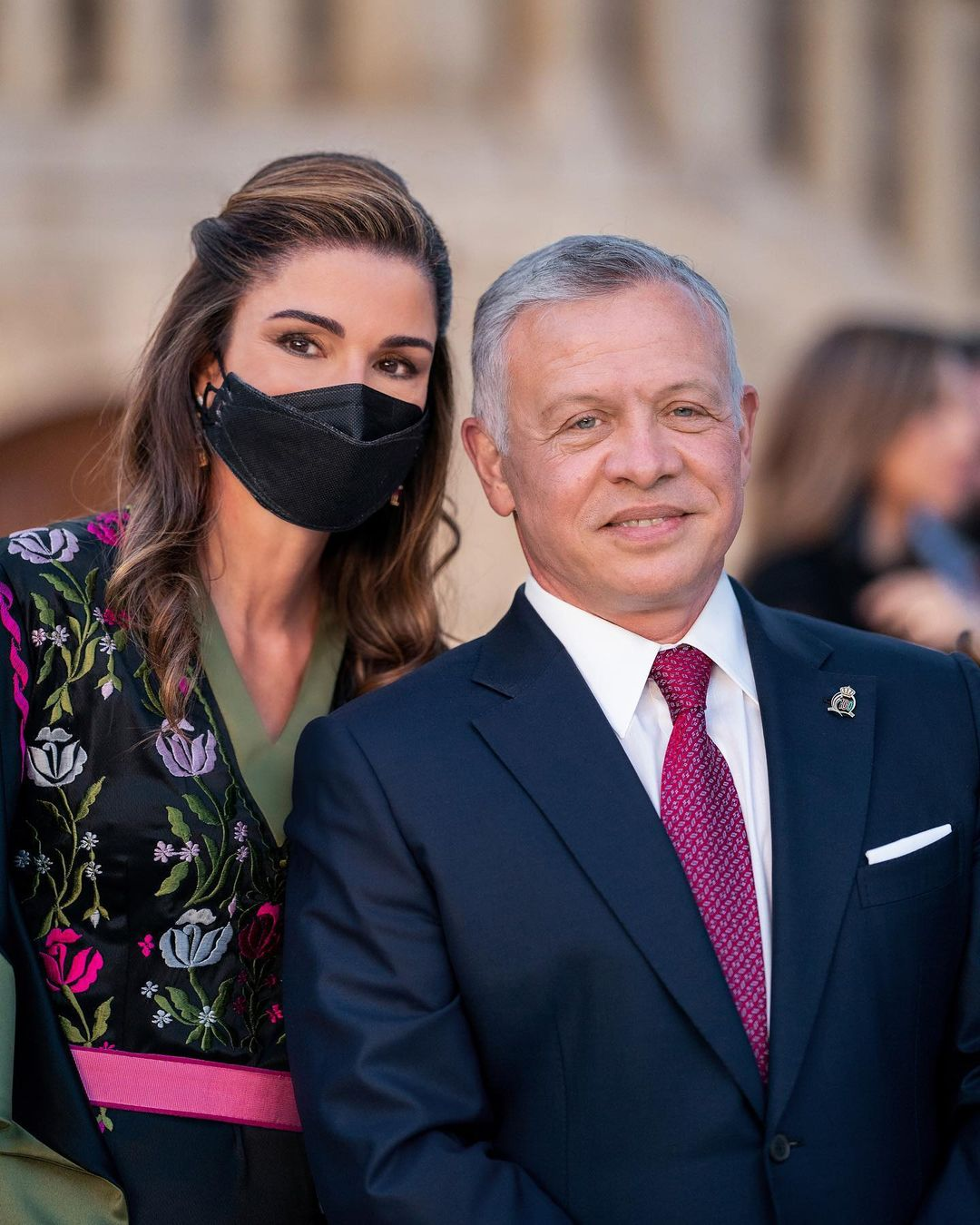 الملكة رانيا وعاهل الاردن