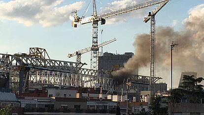 حريق ملعب ريال مدريد (2)