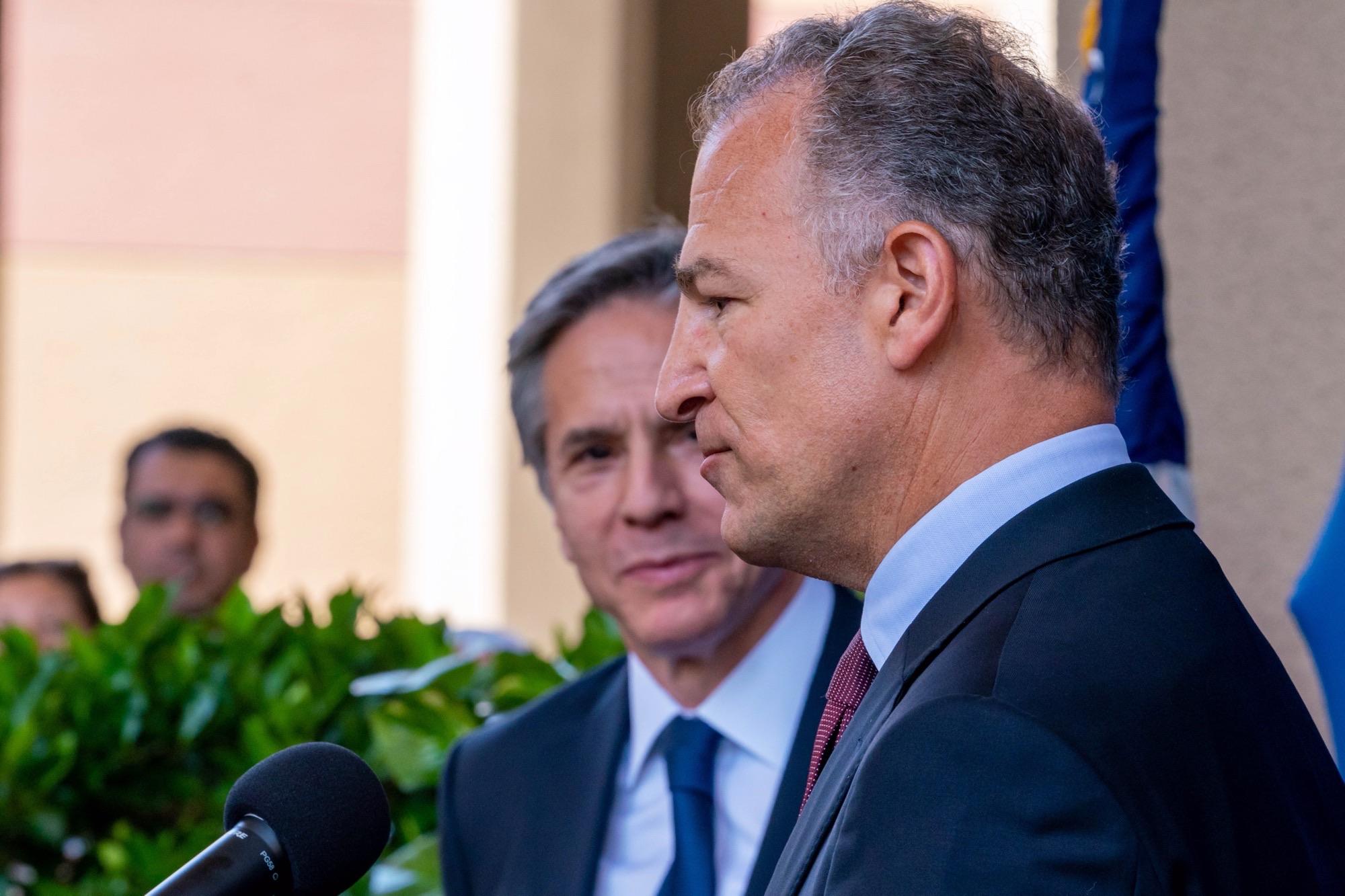 السفير الأمريكى مع وزير الخارجية
