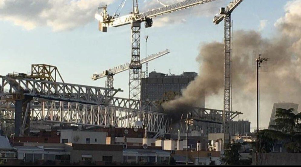 حريق ملعب ريال مدريد (1)