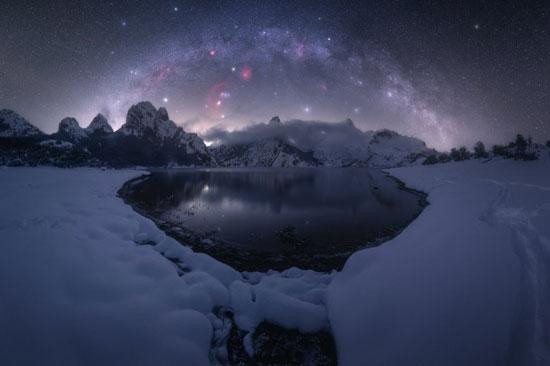 الشتاء الماضي في خزان جبل ريانو في إسبانيا