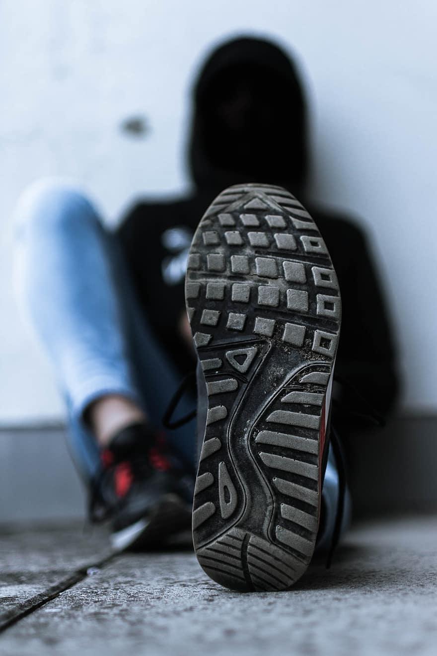 وضع الحذاء