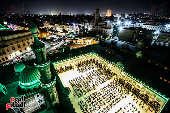 صحن  مسجد الازهر من أعلى