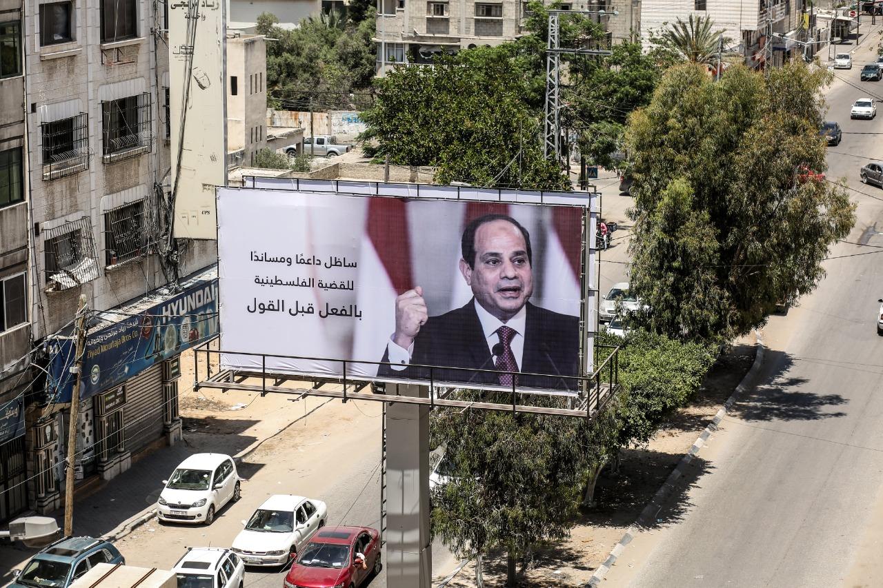 صور الرئيس في قطاع غزة
