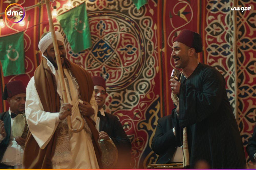 فرح محمد رمضان وسمية الخشاب فى مسلسل موسى (1)