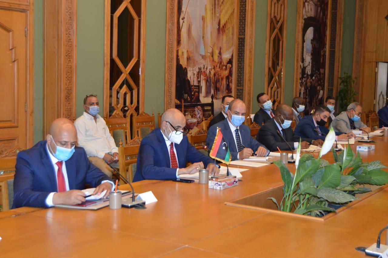 جانب من اجتماعات اللجنة المصرية الليبية في مقر وزارة الخارجية