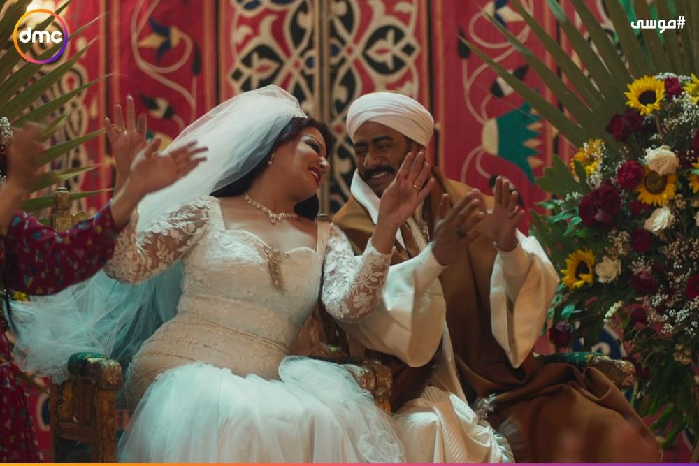 فرح محمد رمضان وسمية الخشاب فى مسلسل موسى (7)