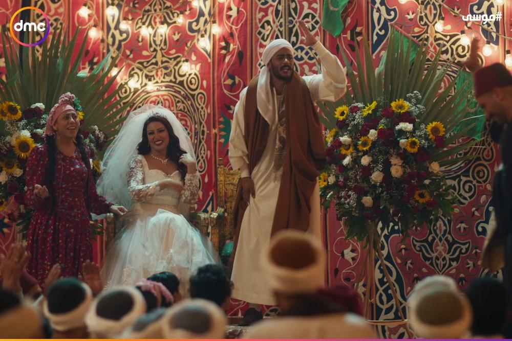 فرح محمد رمضان وسمية الخشاب فى مسلسل موسى (10)