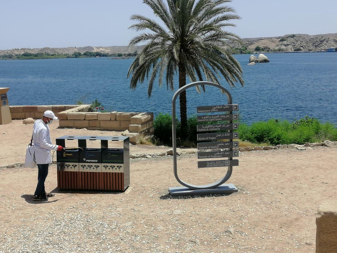 عمليات التطهير والتعقيم شملت كافة المواقع السياحة والأثرية (2)