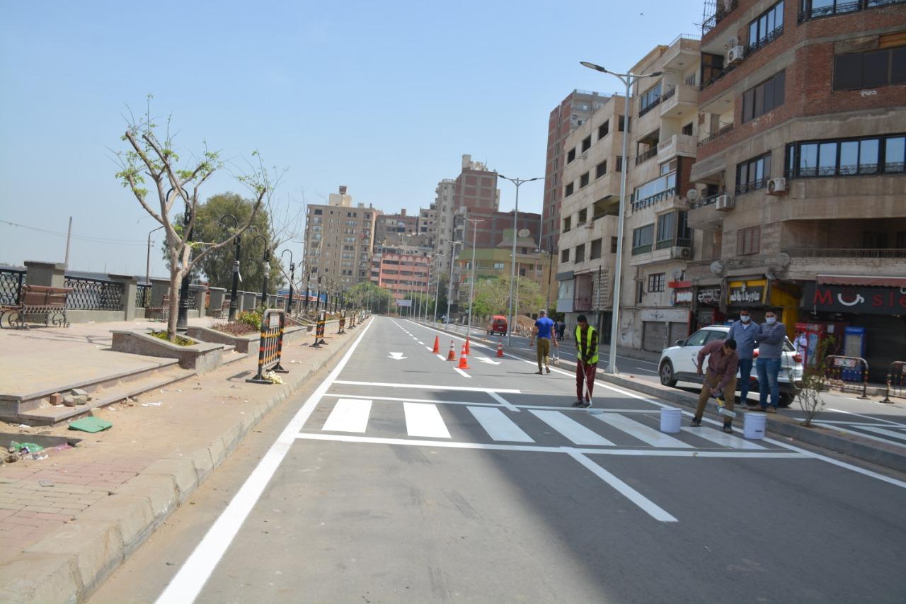 أعمال تخطيط شوارع بنها
