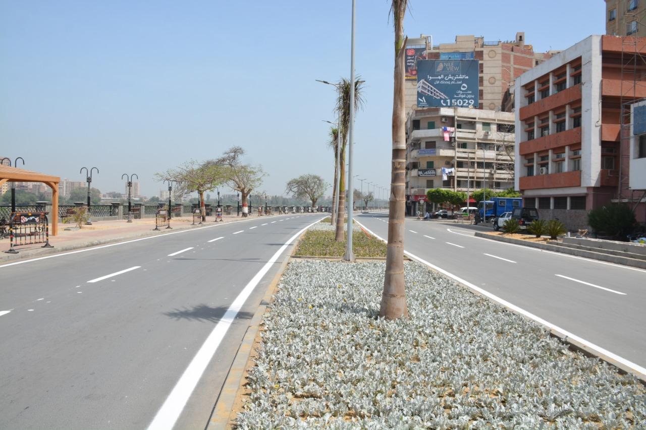 كورنيش النيل ببنها أمام ديوان المحافظة