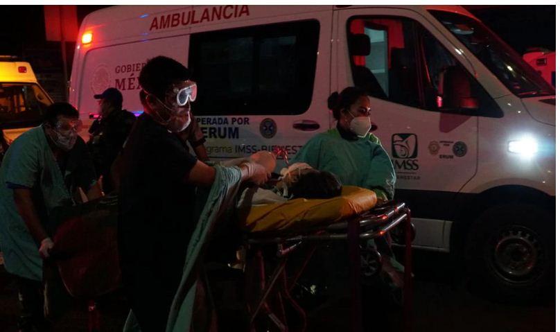 مصابين بحادث مترو انفاق المكسيك