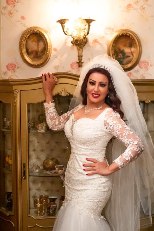 الفنانة سمية الخشاب بفستان الزفاف فى مسلسل موسى