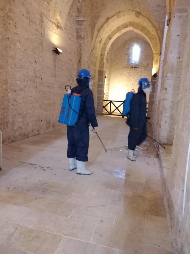 عمليات التطهير والتعقيم شملت كافة المواقع السياحة والأثرية