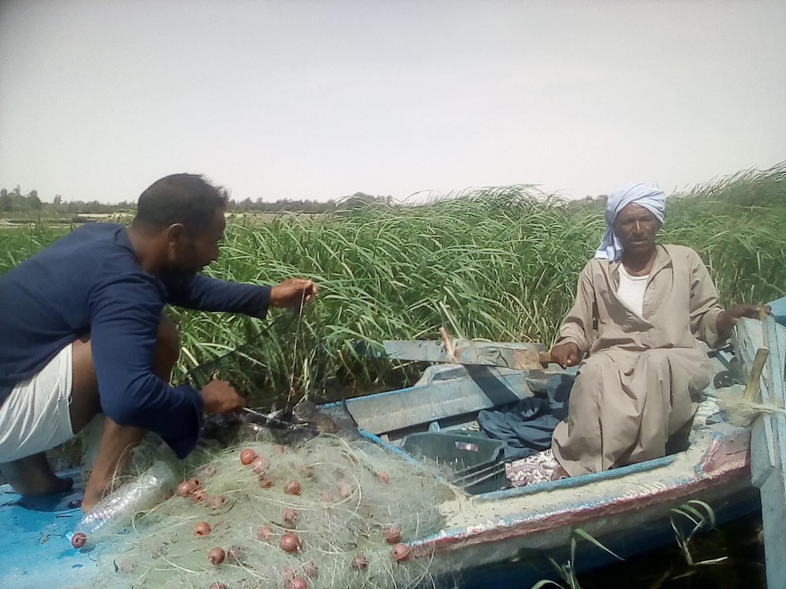 رجب عوض صياد فى المنيا (2)