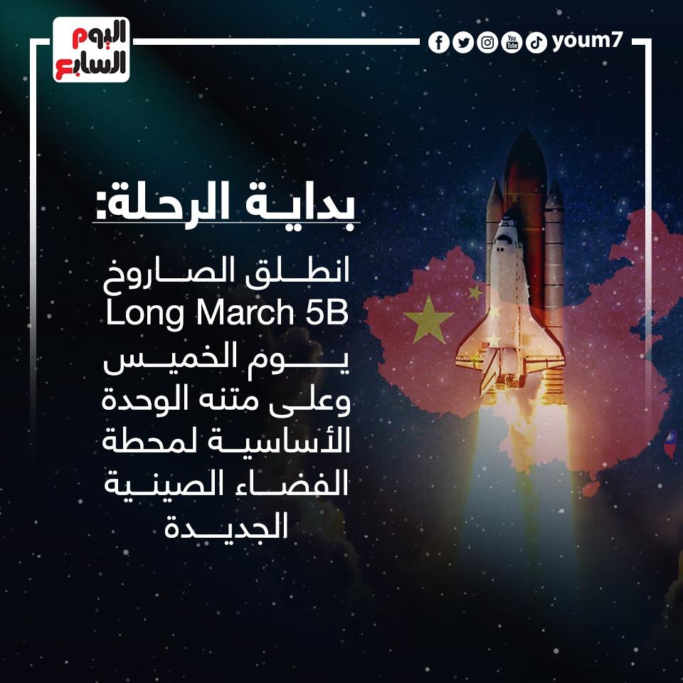 بداية رحلة الصاروخ الصينى