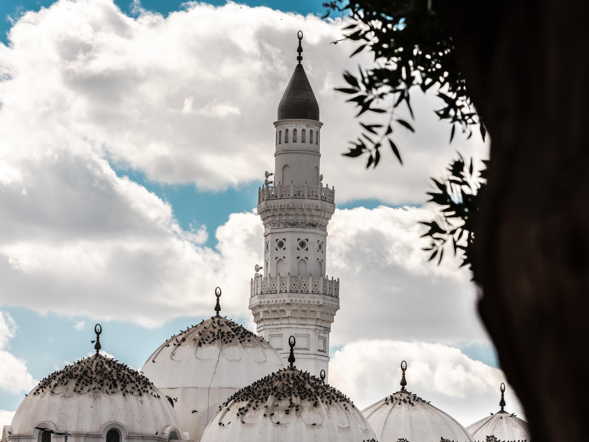 سطح مسجد قباء بالمدينة