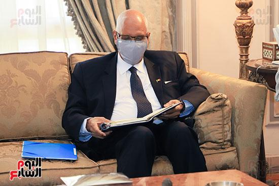 وزير الخارجية سامح شكرى يستقبل وزير خارجية مالى (7)