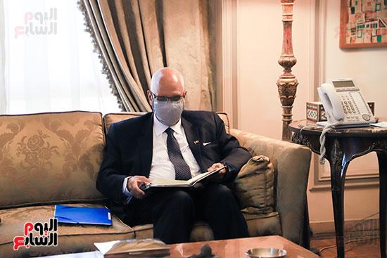 وزير الخارجية سامح شكرى يستقبل وزير خارجية مالى (8)
