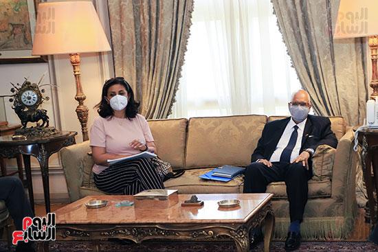 وزير الخارجية سامح شكرى يستقبل وزير خارجية مالى (4)